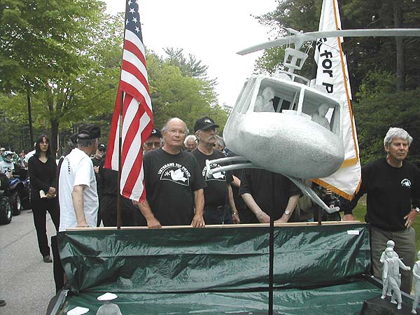 Marching in Memorial Day Parade 2006 in Brunswick