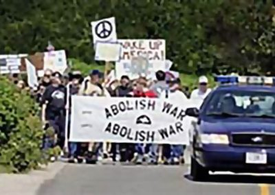 War Protesters Follow Bush to Maine