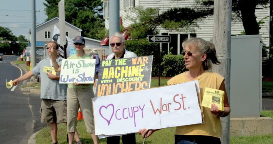 Brunswick Landing Air Show Protest 2012