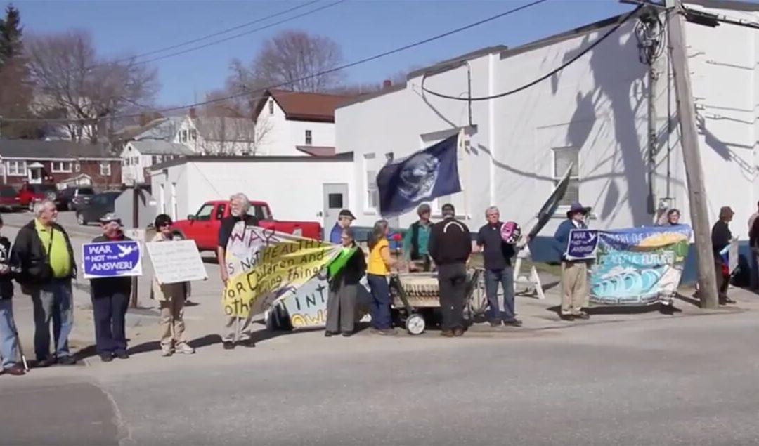Zumwalt destroyer protest at Bath Ironworks Video