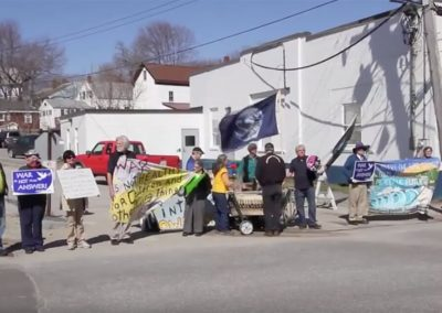Zumwalt destroyer protest at Bath Ironworks Video